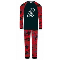 Cycling Pyjamas - Red Camo