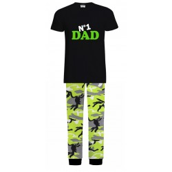No 1 Dad Pyjamas - Green Camo
