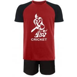 Cricket Short Pyjamas - Red