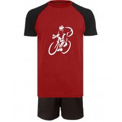 Cycling Short Pyjamas - Red