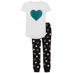 Heart Pyjamas - Black/White...