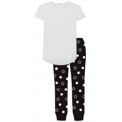 Girls Pyjamas - Black/White