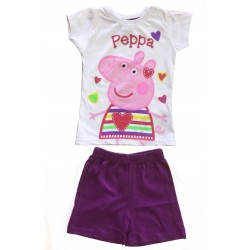 Peppa Pig Short Pyjamas - Plum