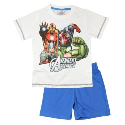 Avengers Short Pyjamas - White