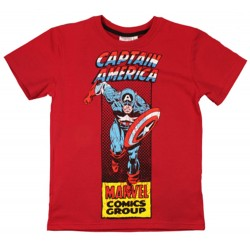 Captain America T Shirt - Red