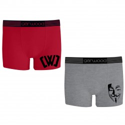 Chad Boxers - Red/Grey -...