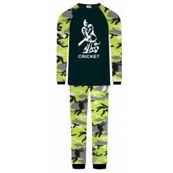 Cricket Pyjamas - Green Camo