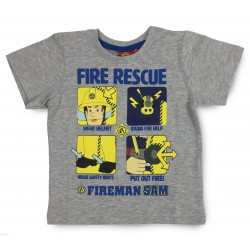 Fireman Sam T Shirt - Grey