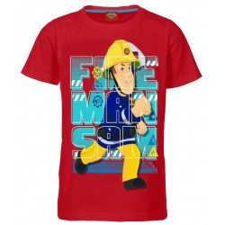 Fireman Sam T Shirt - Red