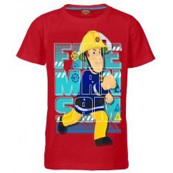 Fireman Sam T Shirt - Red