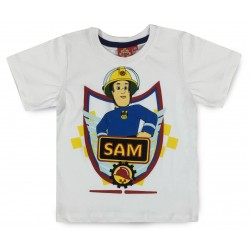 Fireman Sam T Shirt - White