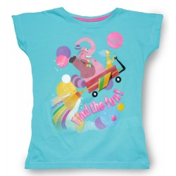 Inside Out T Shirt - Aqua