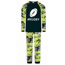 Rugby Pyjamas - Green Camo
