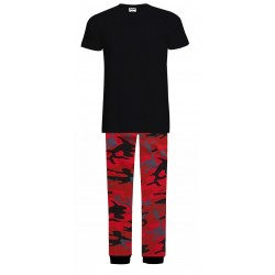 Mens Pyjamas - Red Camo -...