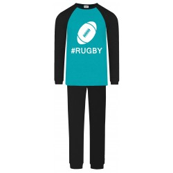 Rugby Pyjamas - Aqua