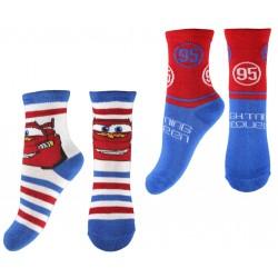 Cars Socks - Red/White/Blue