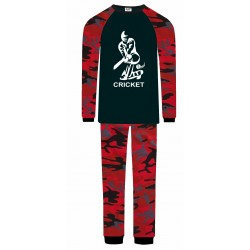 Cricket Pyjamas - Red Camo