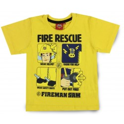 Fireman Sam T Shirt - Yellow