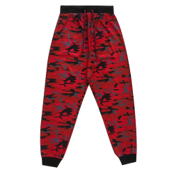 Mens Lounge Pants - Red Camo