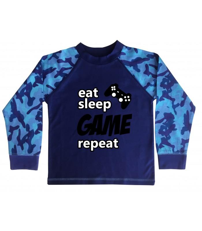 Eat Sleep Game Repeat Organic Pyjamas