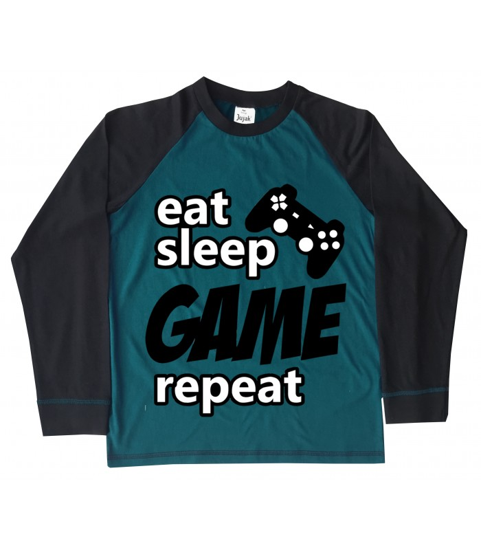 Eat Sleep Game Repeat Pyjamas